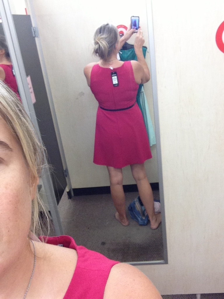 This is the winning dress - it looks better from behind, but I can't walk backwards all night.