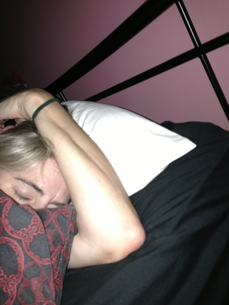This is me after 4.5 hours after landing in Cairns for a big weekend with my sisters - PASSED OUT - I mean tired.