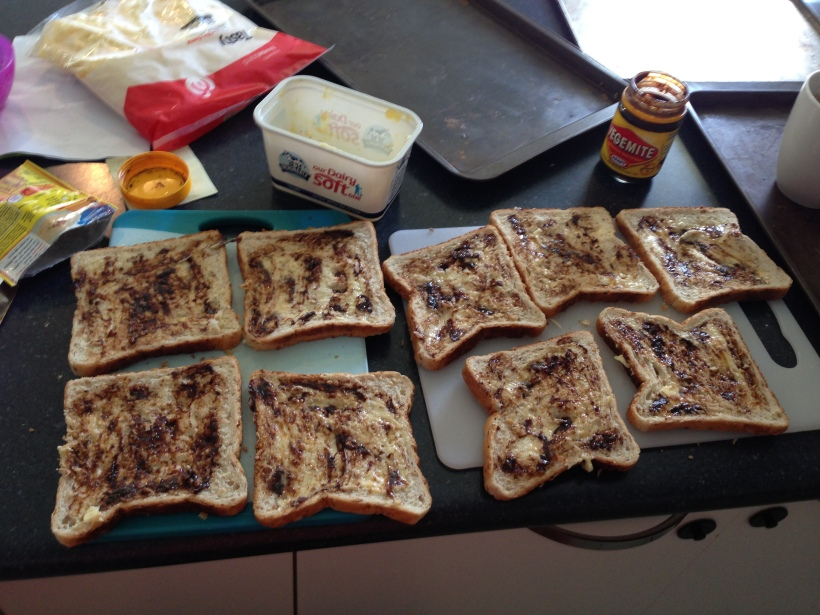 Butter and vegemite - in that order - I know right, who would have thought!