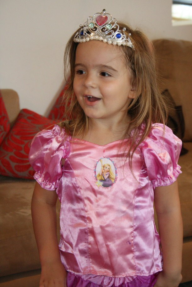 I love the look on her face when she sees her princess cake - just gorgeous.