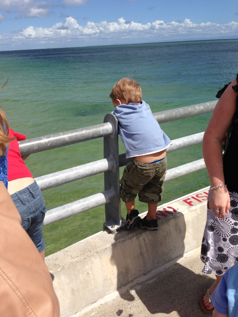 Watching fish at the jetty!