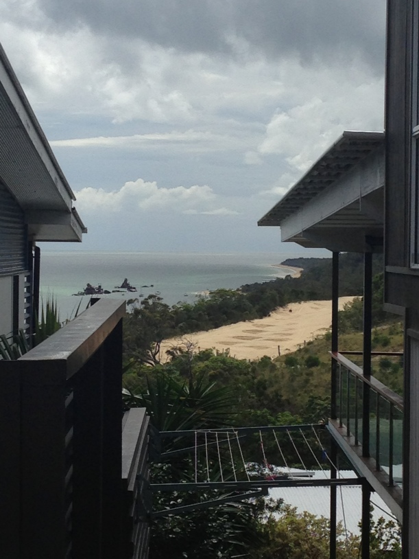 In the background you can see the shipwreck, the quad bike track and the front right is our balcony!