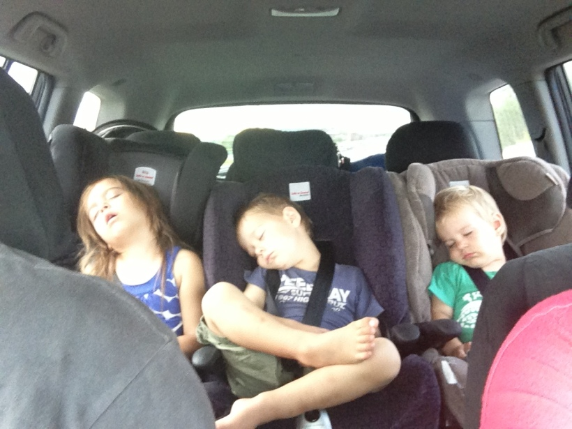 On the way home! All tuckered out!