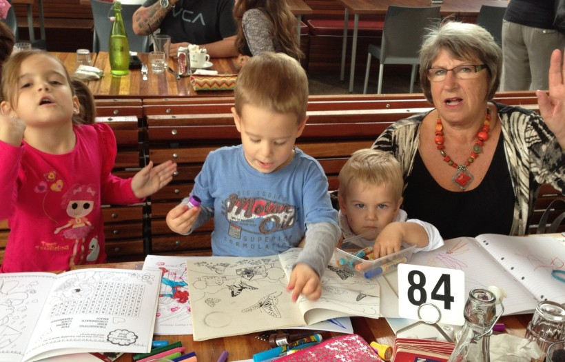Here is my three with my amazing mumma and their nanny!! Notice No.3 looking like he wants to kill me.