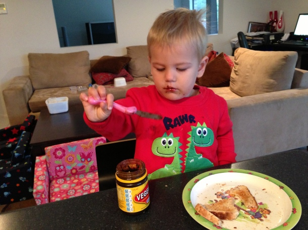 LOVING being able to play with Vegemite!
