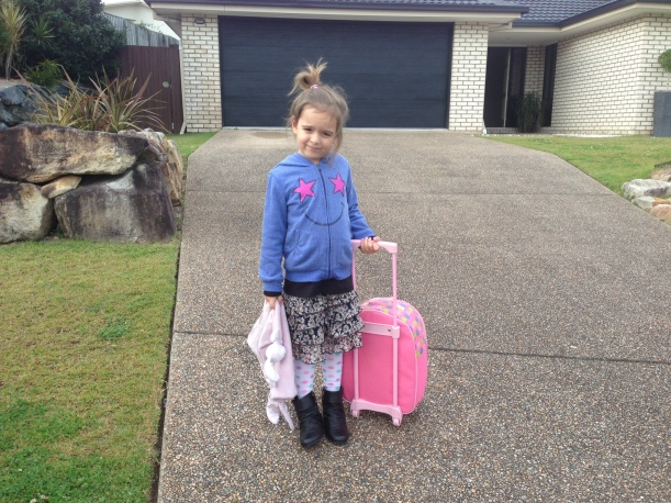Could she be any cuter - notice the boots - she is much trendier than her mum!