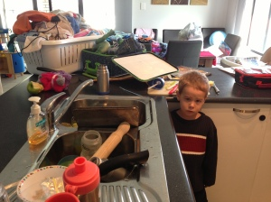 I suppose I should have realised he was in a bad mood - check out this face a few hours before the incident - and my house doesn't usually look like a hoarder's house - I was packing - truly!