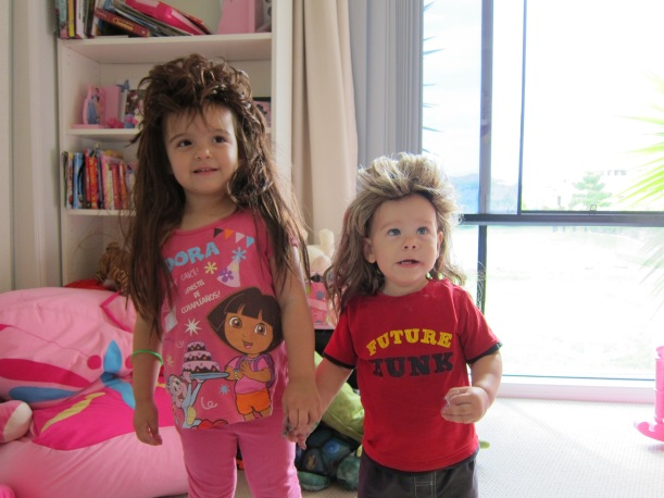 My two oldest totally rocking a mullet - this was taken about two years ago. Cute or what?