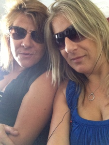 Here's the old me - resurfacing when I had a weekend without kids in Cairns! A little bit of a silly sausage, pulling selfies on a plane with my sissy!