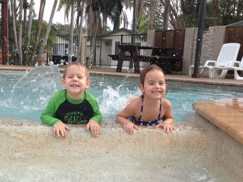 These two cheeky monkeys made a splash!
