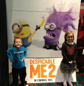 I took him out of daycare so he could go to the movie with his sister, she's on school holidays, so couldn't take just him - he had a ball though and laughed A LOT :) :)