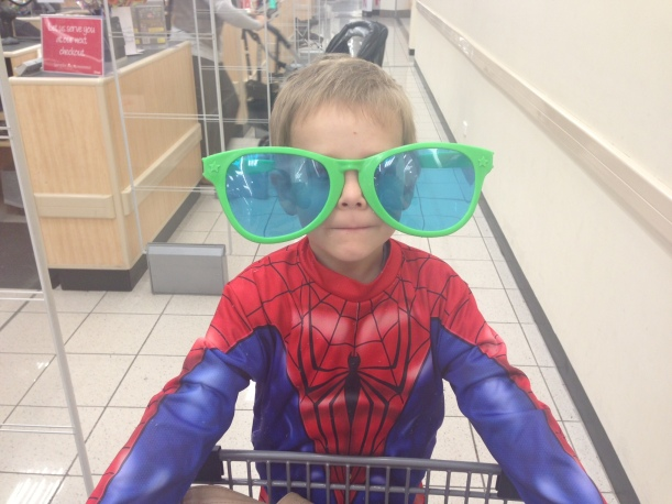 We turned heads at the shops with this Spiderman get up!