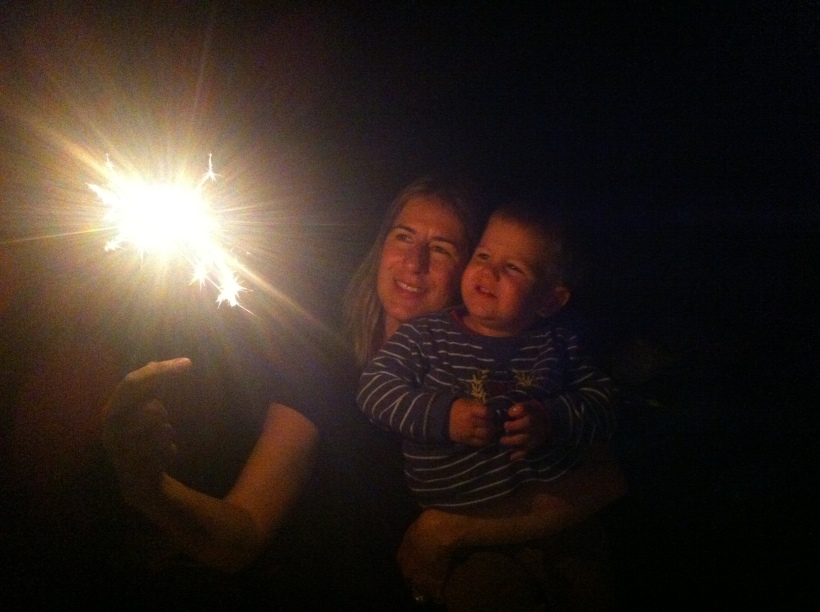 My friend captured this awesome photo with her iPhone, sparkler magic!