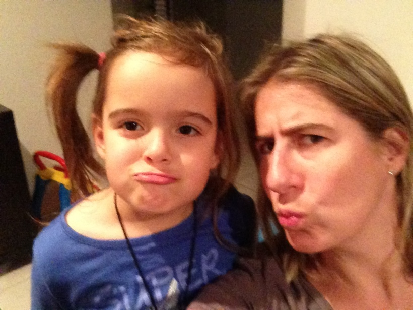 Crazy selfies with my girl - trying to master the duck face!