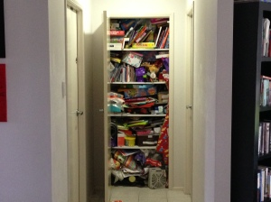 Yes - this is one of my cupboards, any volunteers to come sort it out? Thought not
