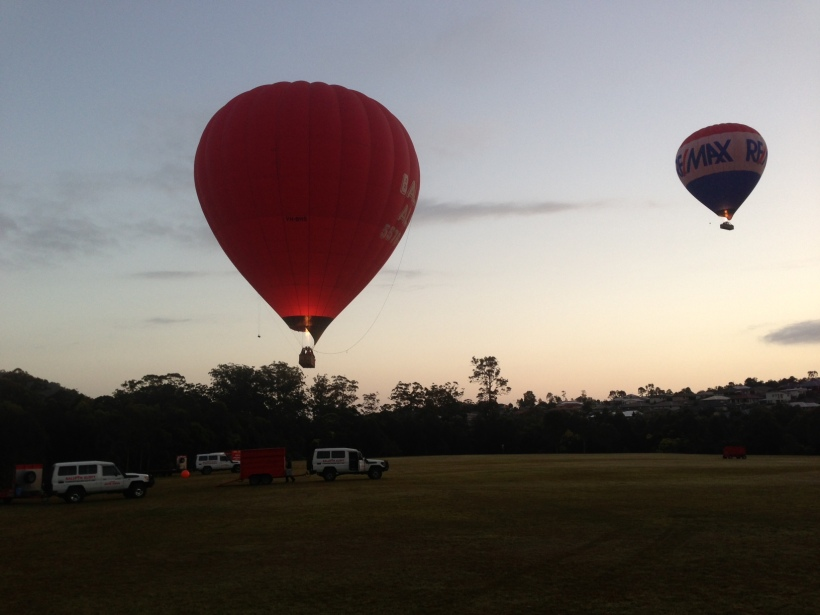 About to take off and follow the other balloon!