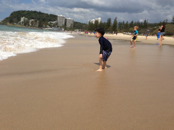 Psyching himself up for a wave to come