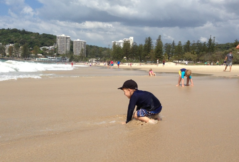 Getting this close to the water is a big deal for my boy - he didn't want to even come to the beach!